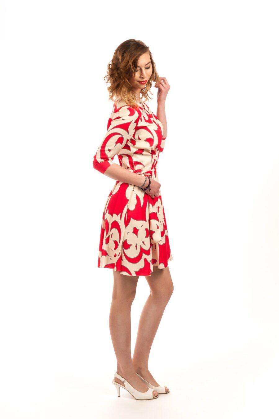 """""""Red & White"""" Dress by Piu Piu"""