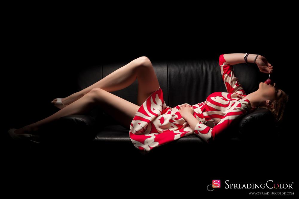 Spreading Color - Piu Piu Red & White Dress