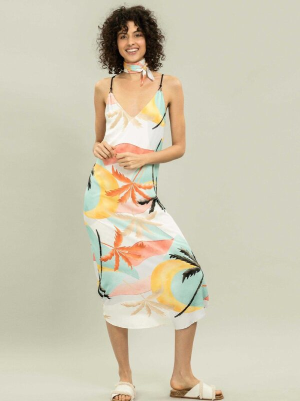 """Traveller's Palm"" Beach Dress by Lez a Lez"
