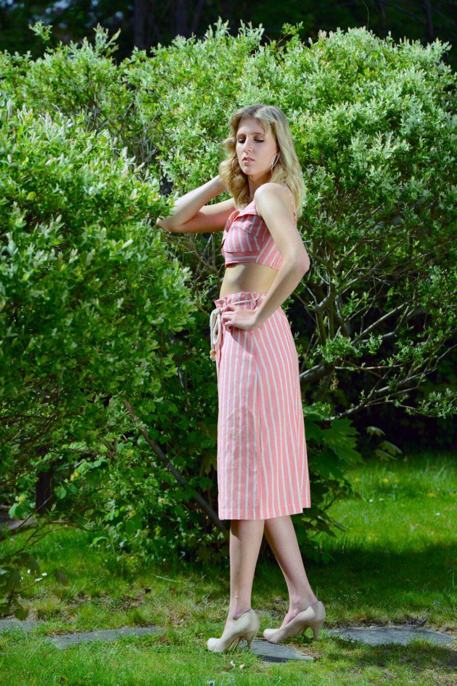 """""""Heartfelt Stripes"""" Midi Skirt by Lez a Lez"""