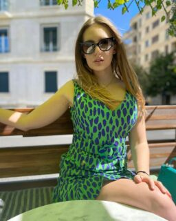 """Thank you @annaswissmermaid for these stunning photos 💚💙Anna wears our """"Leopard Spotted"""" Dress 🤩💕 It's love at first with this daring and seductive mini dress! It will enhance your figure beautifully and comes complete with removable matching belt.   Available with free shipping and 15% off with the discount code: summer15 . . . . . . #damenoutfit #germanbloggerinspo  #bloggerin #blogger_de #fashionblogger_de #bloggerdeutschland #sommer2021 #ootdgermany #swissfashionblogger #sommerferien #prettylittleiiinspo #sommerkleid #sommeroutfit #abendkleider #bloggeruk #ukblogger #whatiworetoday #kleiderliebe #damenmode #frauenmode #urlaubsmodus #ukfashionbloggers #frauenoutfits #modeblogger #sommeroutfits #bloggerde #outfitideen #summerdress #ootdtoday #minikleid"""