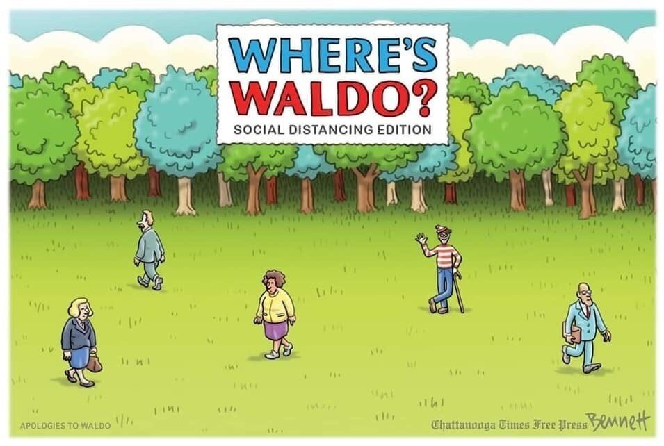 Covid-19 Meme - Where's Waldo?