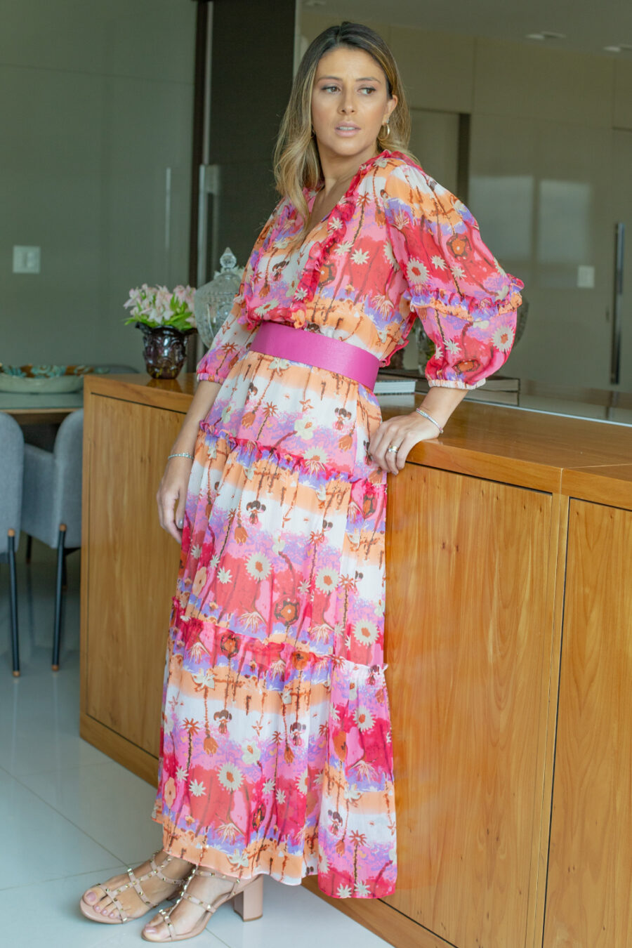 """In Bloom"" Midi Dress by Frutacor"