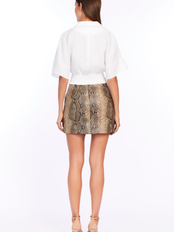 """True Scales"" Mini Skirt by Fedra"